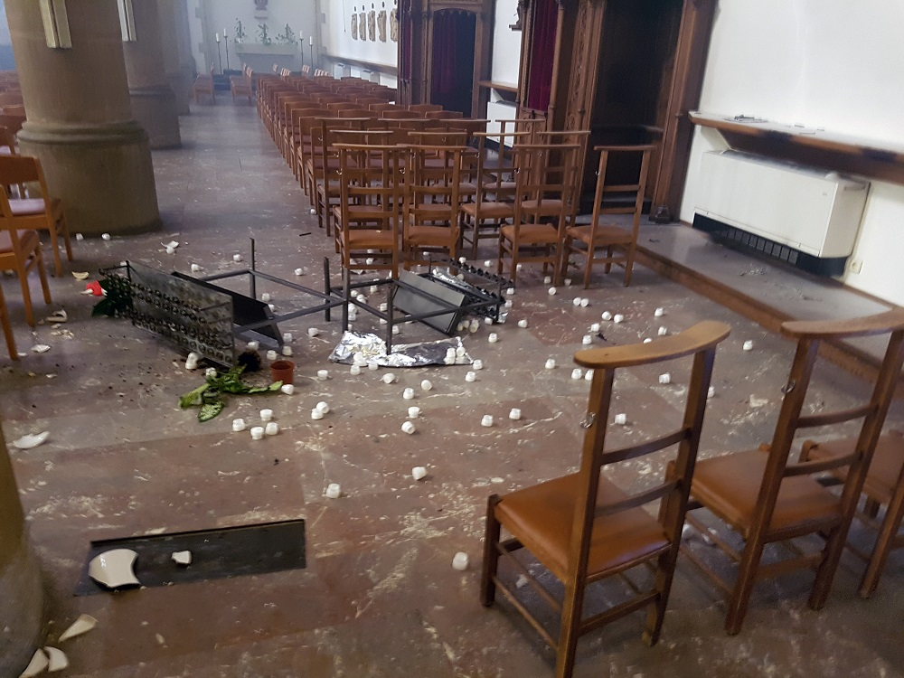Vandalismus in einer Kirche in Luxemburg. - Saar-Mosel-News
