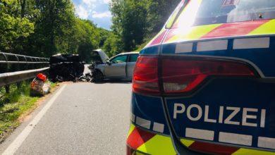 Photo of Schwerer Verkehrsunfall auf der B50 zwischen Sinspelt und Niedergeckler