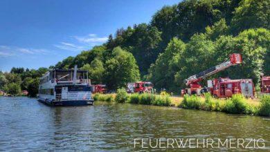Photo of Feuer auf der Saarburger Saarstern an der Saarschleife