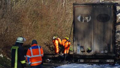 Photo of Gefahrstoffeinsatz nach LKW Brand auf der A64