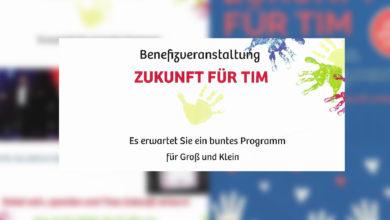Photo of Zukunft für Tim – Benefizveranstaltung in Wellen am Samstag