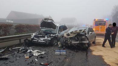Photo of Verkehrsunfall mit drei verletzten Personen