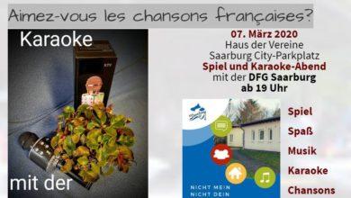 Photo of Karaoke mit der DFG Saarburg