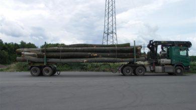 Photo of Holztransport mit über 50 Tonnen auf BAB A-1