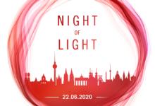 """Photo of """"Night of Light"""" in Saarburg – Sesselbahn in Saarburg leuchtet."""