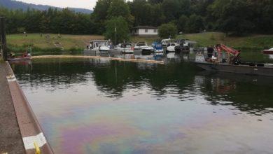 Photo of Gewässerverunreinigung im Schutzhafen Traben-Trarbach