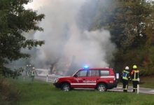 Photo of LKW-Brand auf der B51