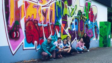 Photo of Essen an der Wand Graffiti-ArtWork für guten Umgang mit Lebensmitteln