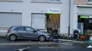 Photo of Bankomat von Unbekannten in Wormeldange gesprengt