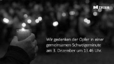 Photo of 13.46 Uhr: Stadtvorstand Trier ruft heute zum stillen Gedenken auf