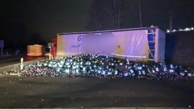 Photo of Verlorene Bierkästen sorgen für Verkehrsbeeinträchtigung auf der B51/ B410
