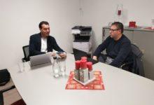 Photo of Sascha Kohlmann zu Gesprächen in Saarburg mit dem Beigeordneten Johannes Kölling