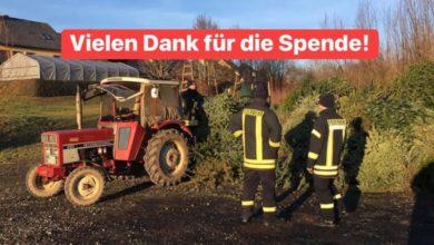 Photo of Ausgefallene Weihnachtsbaumaktion – Spende für die Jugendfeuerwehr Kell am See