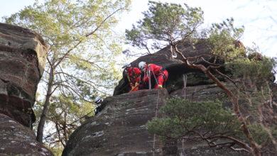 Photo of Wanderer durch Höhenrettung am Altfels bei Kastel-Staadt gerettet