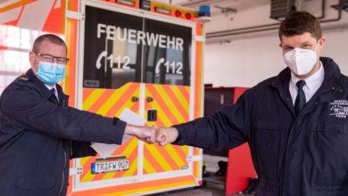 Photo of Polizeipräsident dankt Trierer Feuerwehrmann